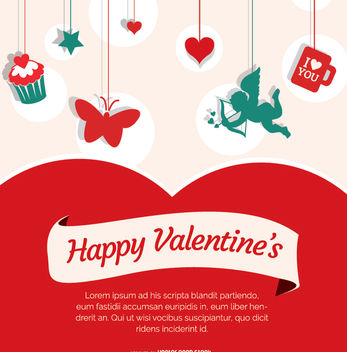 Happy Valentine's Day card - vector gratuit #345805