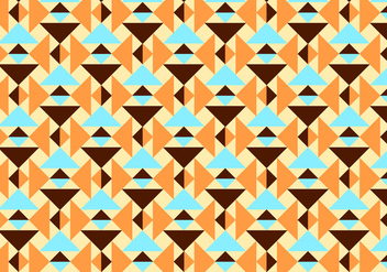Orange and Teal Abstract Pattern Vector - Kostenloses vector #345925