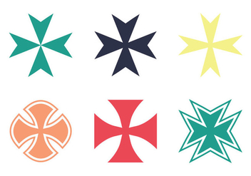 Free Maltese Cross Vector Icon - бесплатный vector #345955