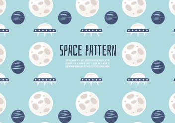 Free Cute Space Pattern Vector Background - vector gratuit #346025