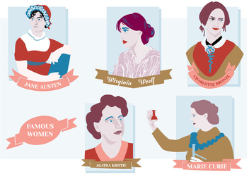 Free Famous Women Vector Background - Free vector #346065