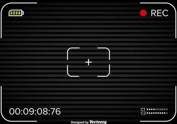 Viewfinder with black background - vector #346085 gratis