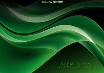 Green abstract waves - Free vector #346125