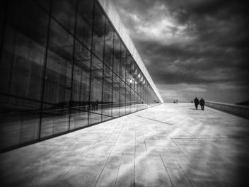 Oslo Opera House, Norway, black and white - image gratuit #346265