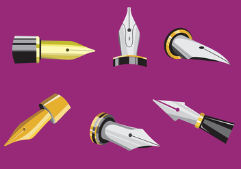 Exclusive Pen Nib Vectors - vector gratuit #346335