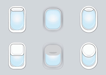 Free Plane Window Vector Illustration - бесплатный vector #346355
