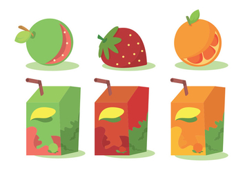 Fruit Juice Vector Set - vector gratuit #346415
