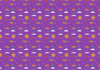 Free Balloons and Rainbow Pattern Vector - Free vector #346425