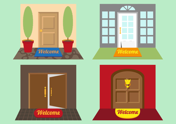 Welcome Mat Illustrations vector - Free vector #346435