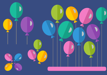 Free Flat Style Balloons - Free vector #346465