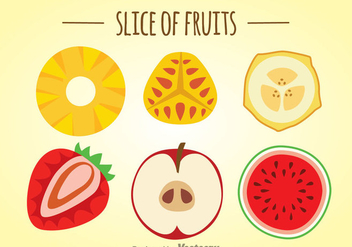 Slice Of Fruits Set - vector gratuit #346685