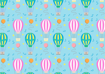 Hot Air Balloons Pattern Vector - vector gratuit #346725