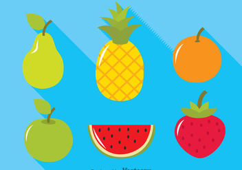 Tropical Fruits Icons - Free vector #346775