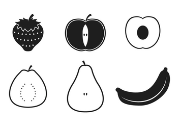 Guava Fruit Icons - vector gratuit #346785