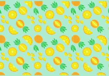 Free Pineapple Seamless Pattern Vector - vector gratuit #346825