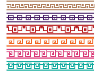 Greek Key Border Vectors - vector #347045 gratis