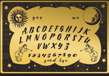 Golden Ouija Board - vector gratuit #347065