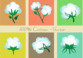Cotton Plant Vector Icons - Kostenloses vector #347095