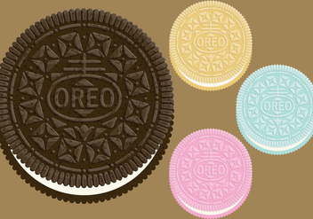 Oreo Cookie Vectors - бесплатный vector #347105