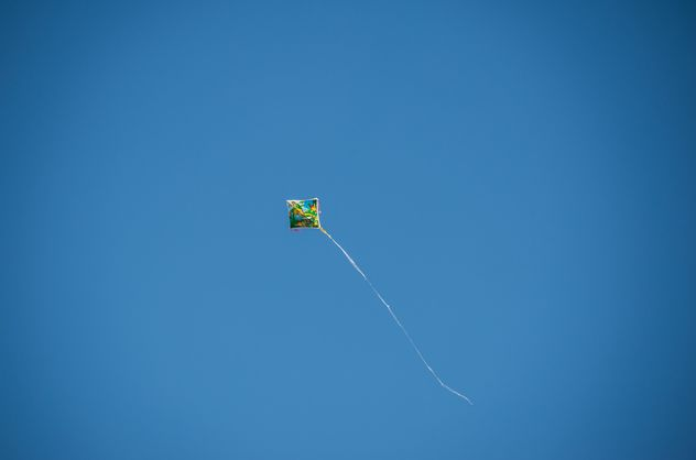 Kite fly in clear blue sky - Free image #347215