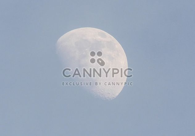 Half moon in blue sky - Free image #347225