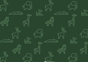 Outline Animals Pattern - vector gratuit #347355