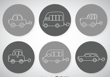Line Cars Icons - Free vector #347365