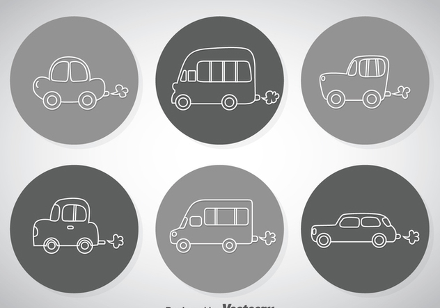 Line Cars Icons - vector #347365 gratis