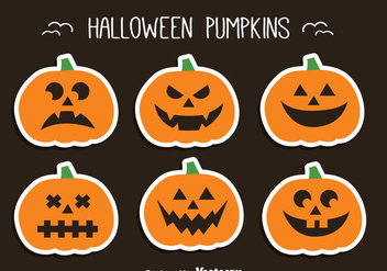Halloween Pumpkin Set - vector gratuit #347375