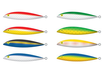 Floating Rapala Fishing Lure Vectors - vector gratuit #347385