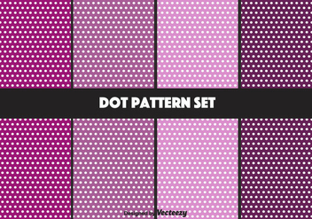 Purple Dot Pattern Vector Set - Free vector #347445