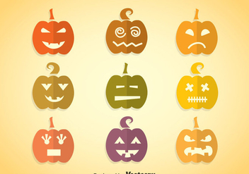 Pumpkin Colorful Icons - vector #347455 gratis