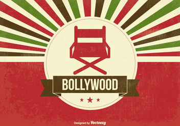 Retro Bollywood Illustration - vector gratuit #347605