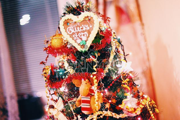 Decorated Christmas tree closeup - Free image #347815