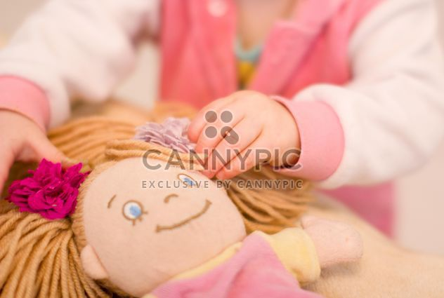 Closeup of baby doll hands of small girl - Free image #347925