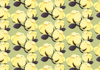 Free Cotton Plant 100% Pattern Vector - Free vector #348055