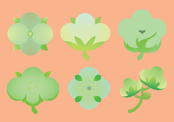 Free Cotton Plant Icon Vector - Free vector #348095
