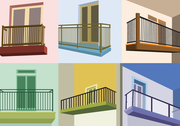 Perspective View Balcony Vectors - бесплатный vector #348105