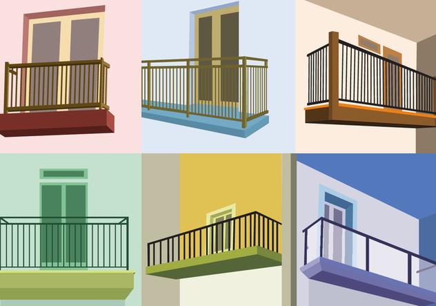 Perspective view balcony vectors free vector download for Balcony vector
