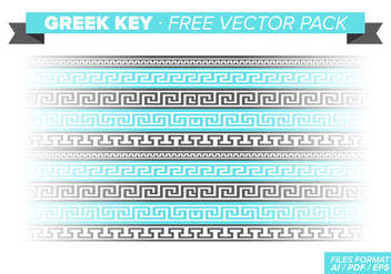 Greek Key Free Vector Pack - vector #348165 gratis