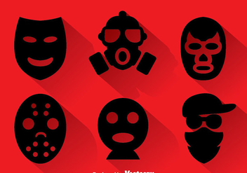 Robber Masks Collection - vector #348225 gratis