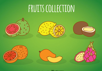Fruits Cartoon Collection - vector gratuit #348265