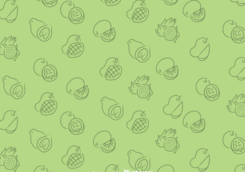 Fruits Green Pattern - vector gratuit #348285