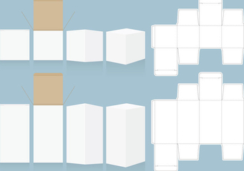 Die Cut Boxes - vector gratuit #348765