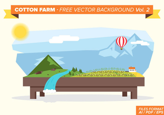 Cotton Farm Free Vector Background Vol. 2 - Free vector #348815