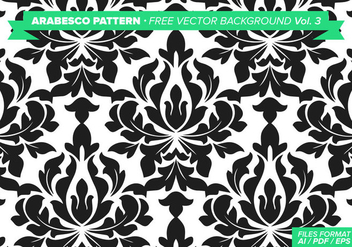 Arabesco Pattern Free Vector Background Vol. 3 - Kostenloses vector #348825