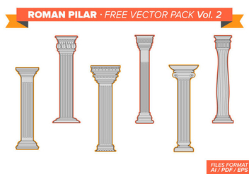 Roman Pillar Free Vector Pack Vol. 2 - Free vector #348835