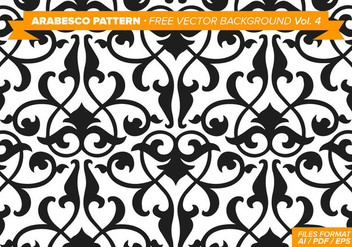 Arabesco Pattern Free Vector Background Vol. 4 - Kostenloses vector #348865