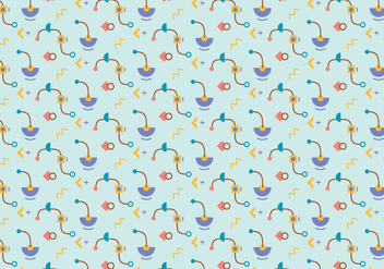 Funky shapes pattern background - Free vector #348965