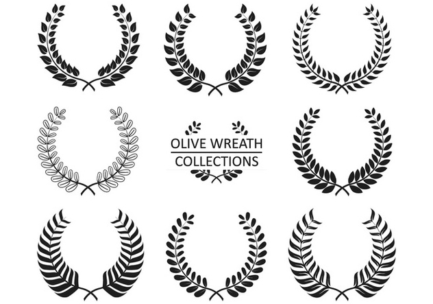 Collections de vecteur d'olive Wreath - vector gratuit #349035